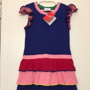 Hanna Andersson Rainbow Twirly Sweater Dress 130